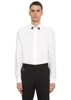 Dolce & Gabbana Cotton Poplin Shirt W/ Embroidery