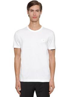 Dolce & Gabbana Cotton T-shirt W/ D&g Plaque