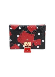 Dolce & Gabbana Crazy For Sicily Leather Card Holder