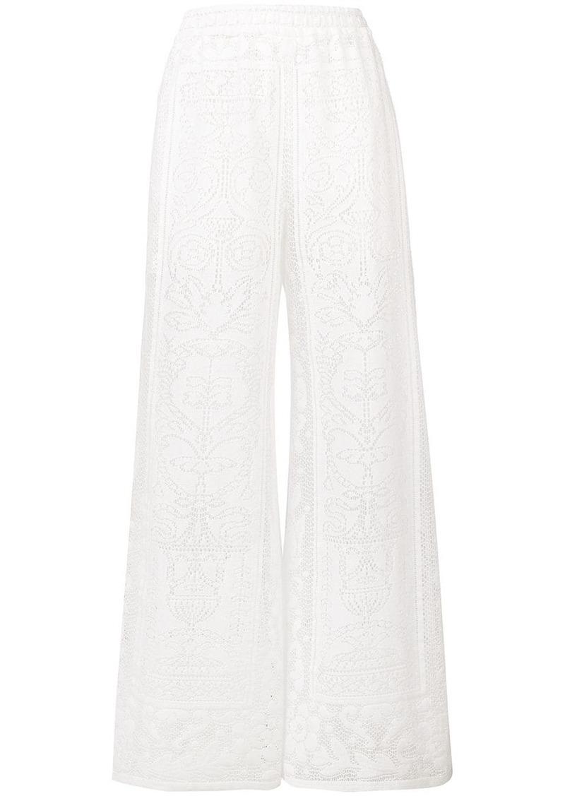 Dolce & Gabbana crochet palazzo pants