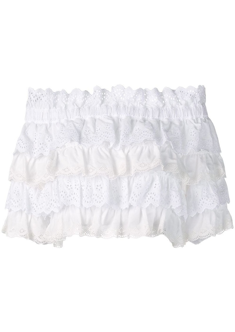Dolce & Gabbana cropped frilled blouse