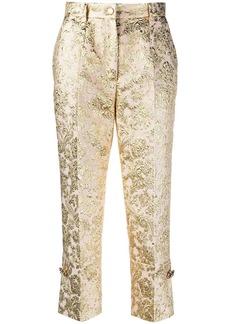 Dolce & Gabbana cropped jacquard trousers