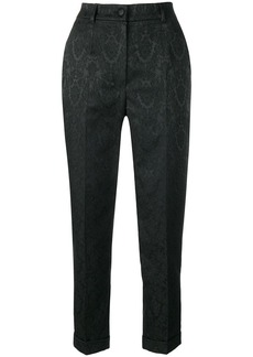 Dolce & Gabbana cropped jacquard trousers