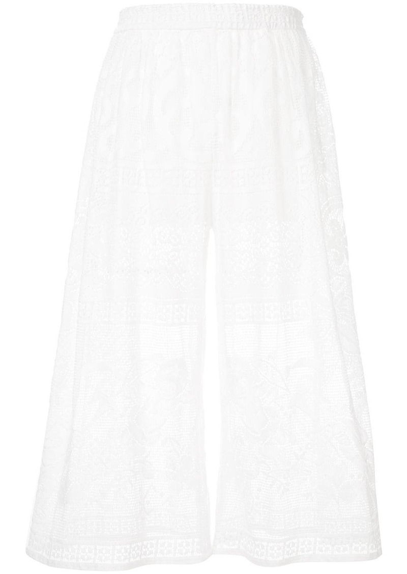 Dolce & Gabbana cropped lace trousers