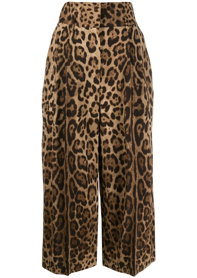 Dolce & Gabbana cropped leopard trousers