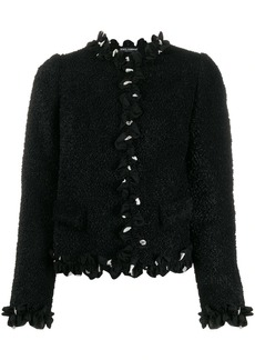 Dolce & Gabbana cropped ruffle trim jacket