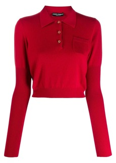 Dolce & Gabbana cropped polo jumper