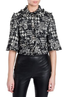 Dolce & Gabbana Cropped Tweed Jacket