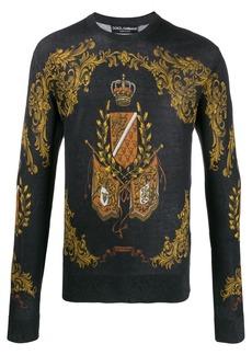 Dolce & Gabbana crown and crest print sweatshirt