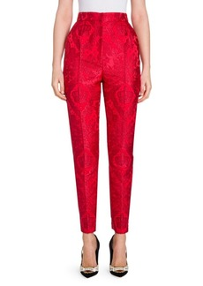 Dolce & Gabbana Crown Jacquard Slim Pants