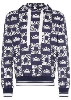 Dolce & Gabbana crown logo print hoodie