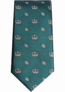 Dolce & Gabbana crown logo silk tie