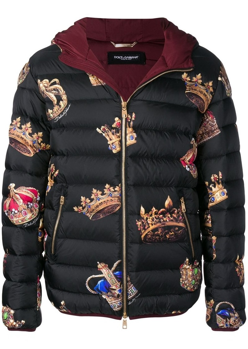 Dolce & Gabbana crown print coat