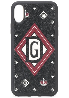Dolce & Gabbana crown-print iPhone X case