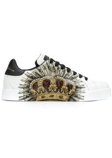 Dolce & Gabbana crown print sneakers
