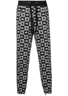 Dolce & Gabbana crown-print track pants