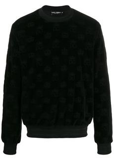 Dolce & Gabbana crown velvet sweatshirt