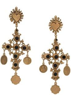 Dolce & Gabbana crucifix embellished earrings
