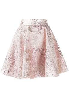 Dolce & Gabbana crushed velvet skater skirt