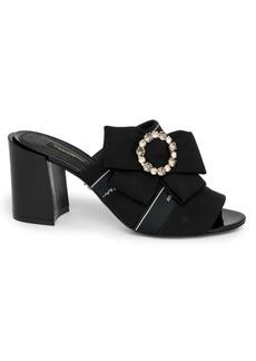 Dolce & Gabbana Crystal Bow Logo Mules