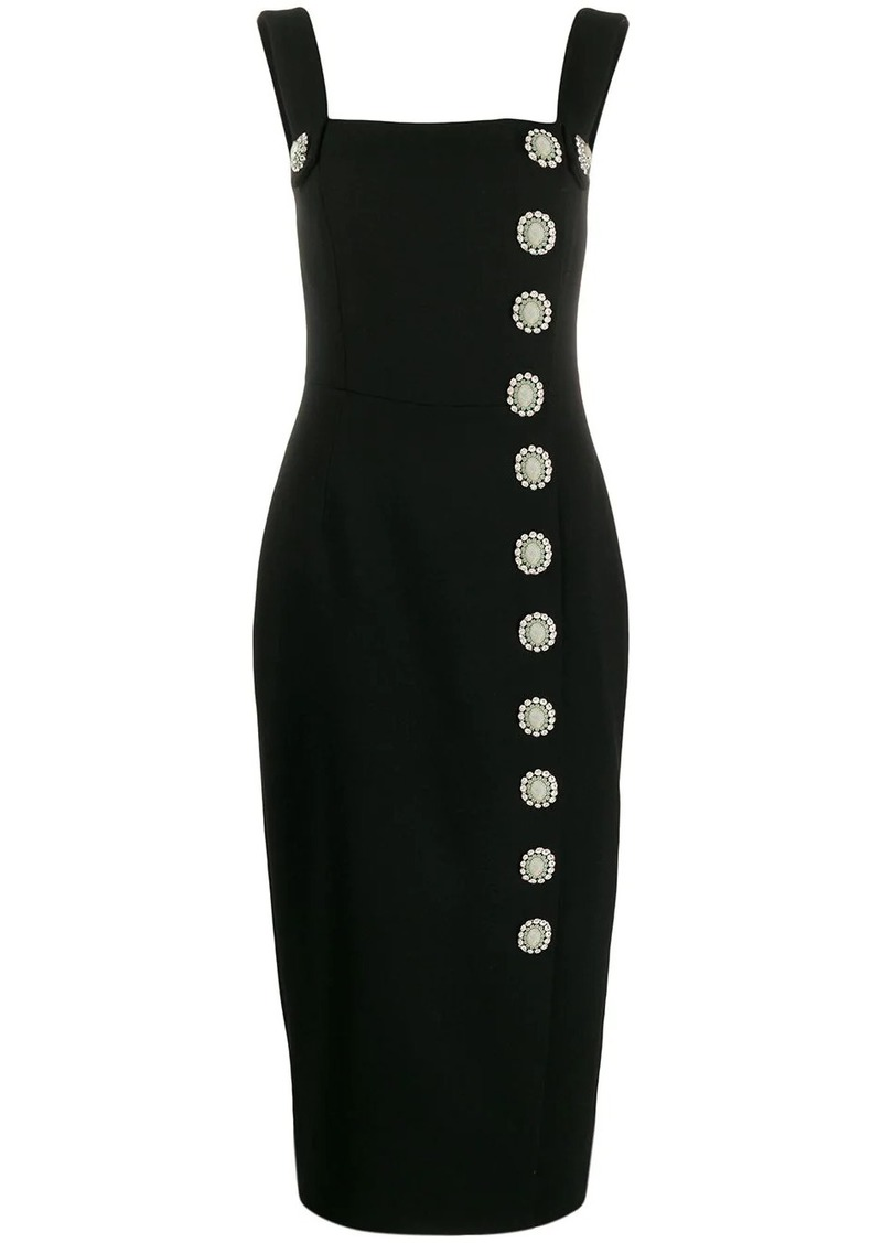 Dolce & Gabbana crystal button midi dress