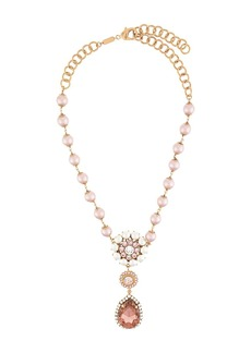 Dolce & Gabbana crystal drop pearl beaded necklace