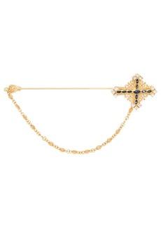 Dolce & Gabbana crystal-embellished brooch
