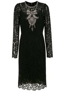 Dolce & Gabbana crystal embellished lace dress