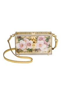 Dolce & Gabbana Crystal-Embellished Metallic Plexi Shoulder Bag