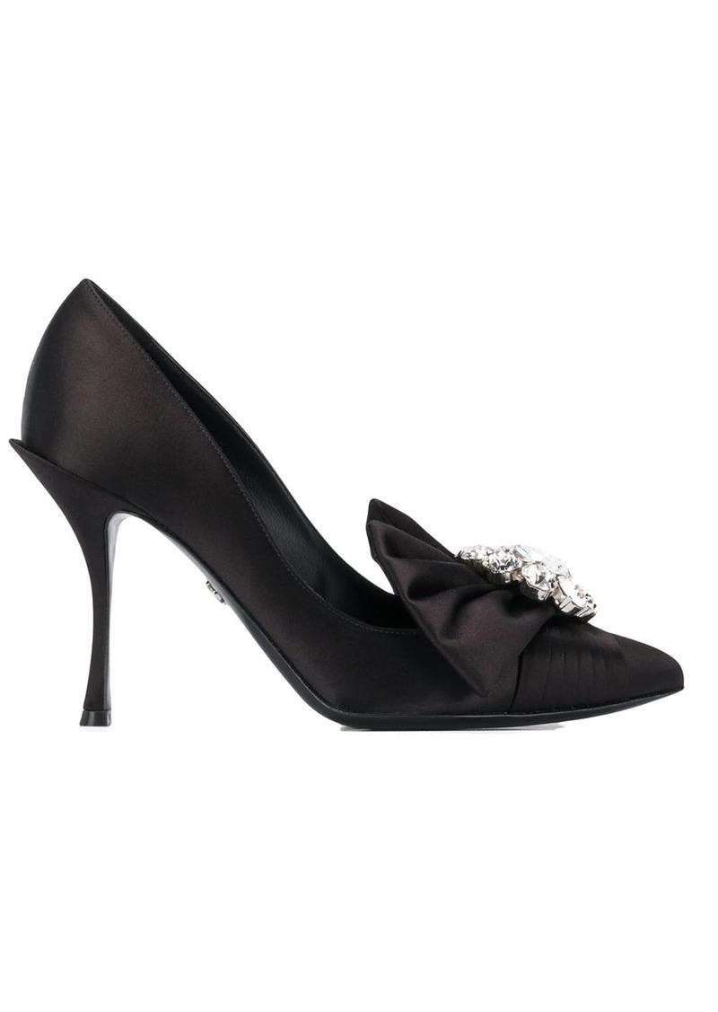 Dolce & Gabbana crystal embellished pumps