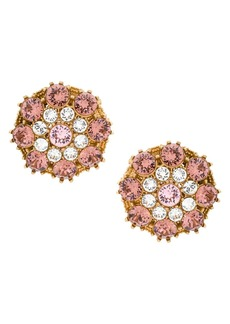 Dolce & Gabbana crystal-embellished round earrings