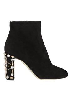 Dolce & Gabbana Crystal Heel Booties