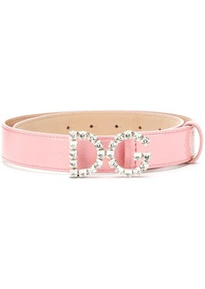 Dolce & Gabbana crystal logo belt