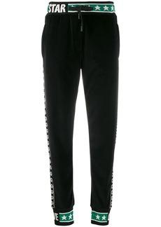 Dolce & Gabbana cuffed logo stripe track pants