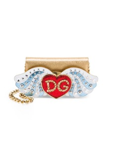 Dolce & Gabbana Dauphine Heart Leather Wallet Bag