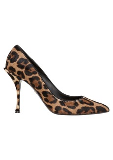 Dolce & Gabbana Decollete Leopard Calf Hair Pumps