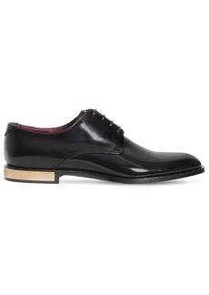 Dolce & Gabbana Derby Leather Lace-up Shoes W/ Studs