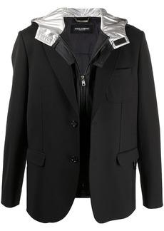 Dolce & Gabbana detachable hood blazer