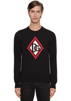 Dolce & Gabbana Dg Cashmere Intarsia Knit Sweater