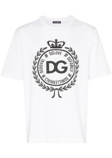 Dolce & Gabbana DG crest logo cotton T-shirt