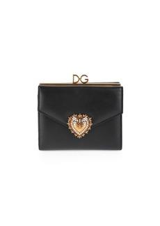 Dolce & Gabbana Devotion Leather Flap Wallet