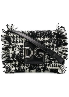 Dolce & Gabbana DG fringed tweed shoulder bag