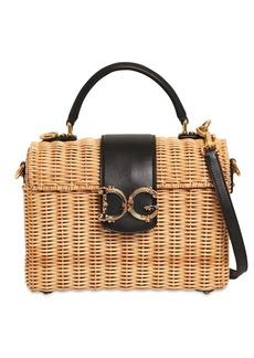 Dolce & Gabbana Dg Girl Midollino Leather & Raffia Bag
