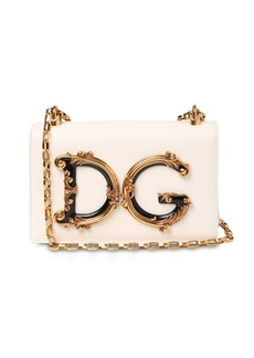 Dolce & Gabbana Dg Girls Barocco Leather Shoulder Bag