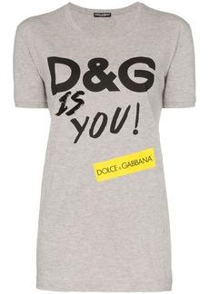 Dolce & Gabbana D&G Is You print cotton T-shirt