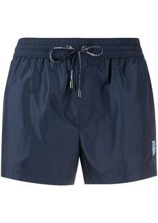 Dolce & Gabbana DG logo-embroidery swim shorts