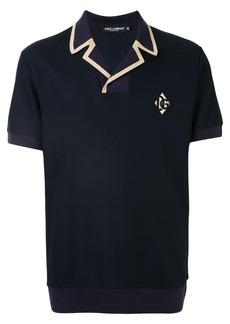 Dolce & Gabbana DG logo patch polo shirt