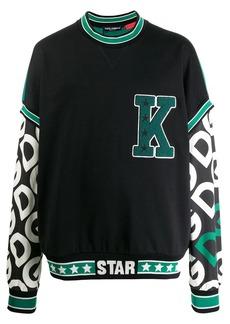 Dolce & Gabbana DG logo print patch sweatshirt