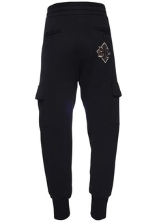 Dolce & Gabbana Dg Patch Cotton Cargo Sweatpants