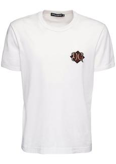 Dolce & Gabbana Dg Patch Embroidery Cotton T-shirt